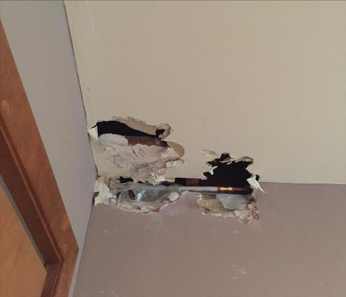 Water Damage in Haledon Home From Frozen Pipe Before