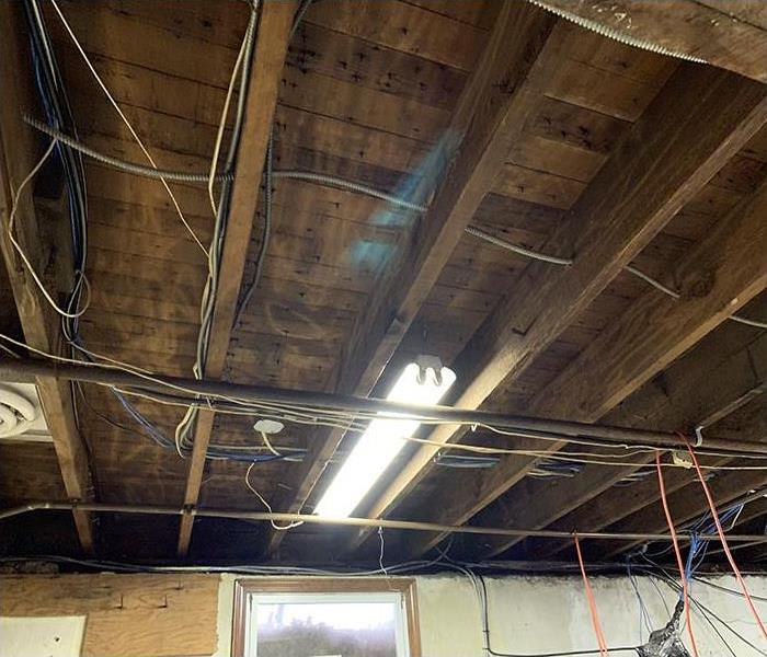 exposed ceiling during restoration process
