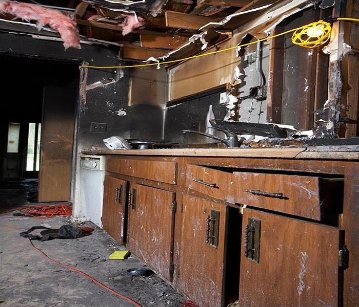 fire damaged kitchen cabinets