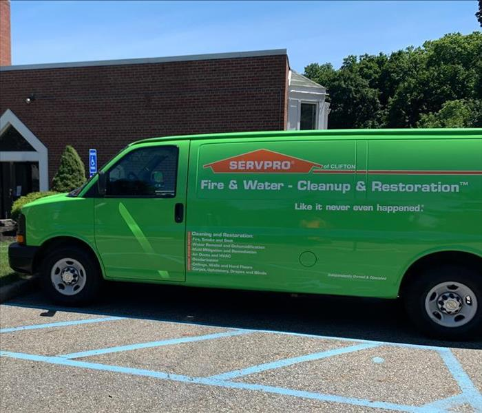 Clifton SERVPRO van parked at commercial site